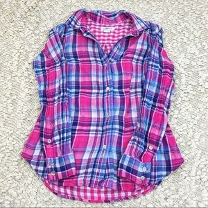 Vineyard Vines Pink Blue Plaid Button Down